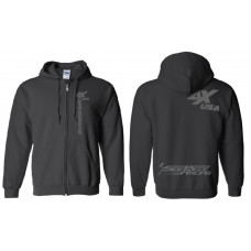 Awesomatix USA Black Zipper Hoodie - 2XL