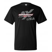 Awesomatix USA Breathable Black T-Shirt - S