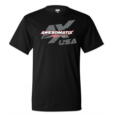 Awesomatix USA Breathable Black T-Shirt - L