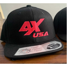 Awesomatix USA Hot Pink on Black Flat Brim Snap Back Cap